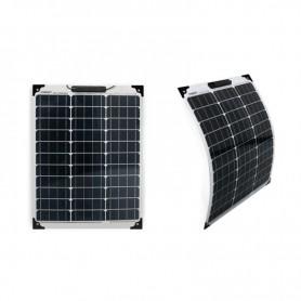 Panneau solaire 50w 12v monocristalin souple-flexible carré-EcoWatt-Flex