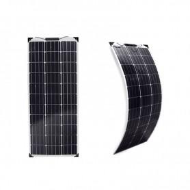 Panel solar monocristalino suave y flexible de 120w-12V