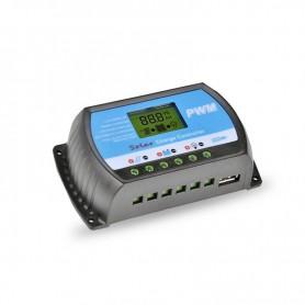 Régulateur Solaire PWM et MPPT Régulateur de charge solaire PWM 10A 12/24V RTD1210 JYINS