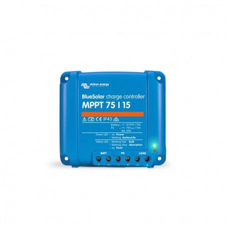VICTRON BlueSolar MPPT 75//15 15 A Solar Charge Controller panneaux solaires jusqu/'à 75 V