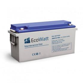 Batería de gel solar 150ah 12v descarga Lente-EcoWatt