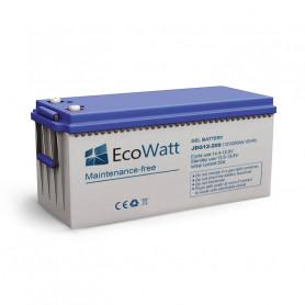 Batterie 200ah 12v Gel décharge Lente-Ecowatt