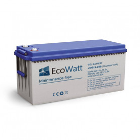 Solar gel battery 200ah 12v discharge Lente-EcoWatt