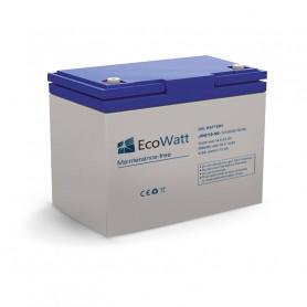Batería de gel solar 50ah 12v descarga Lente-EcoWatt