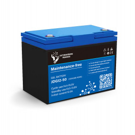 Solar gel battery 50ah 12v discharge Lente-Ultimatron