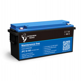 Batterie Solaire Plomb Carbone 150ah 12v decharge Lénte - ULTIMATRON